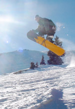Snowboarder at Wolf Creek Colorado